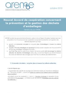 Nouvel Accord de coopération concernant la prévention et la gestion des déchets d'emballages
