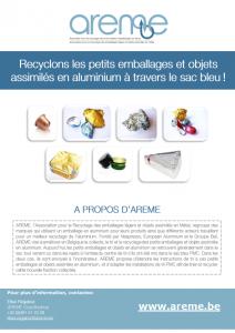 Recyclons les petits emballages et objets assimilés en aluminium à travers le sac bleu
