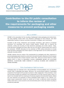 Contribution to the EU public consultation to inform the review of the requirements for packaging and other measures to prevent packaging waste