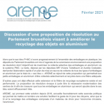 Discussion d'une proposition de résolution au Parlement bruxellois visant à améliorer le recyclage des objets en aluminium